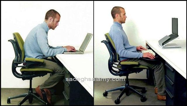 روش صحیح نشستن روی صندلی