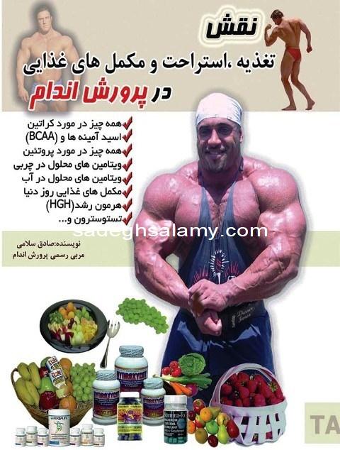 کتاب نقش تغذیه در پرورش اندام نوشته صادق سلامی